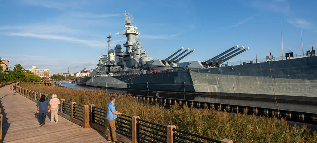Battleship North Carolina Memorial Walkway