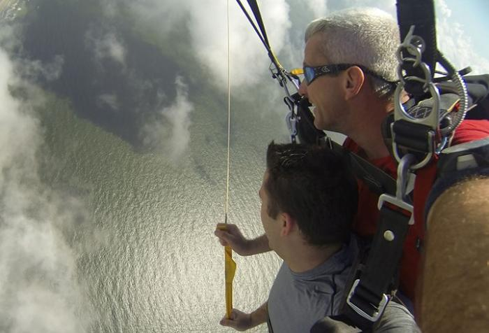 Parasailing in Galveston
