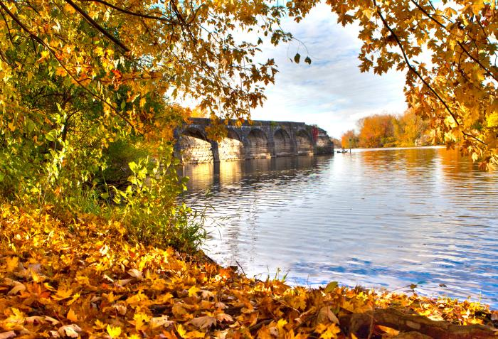 Cayuga County Richmond Aqueducts in fall