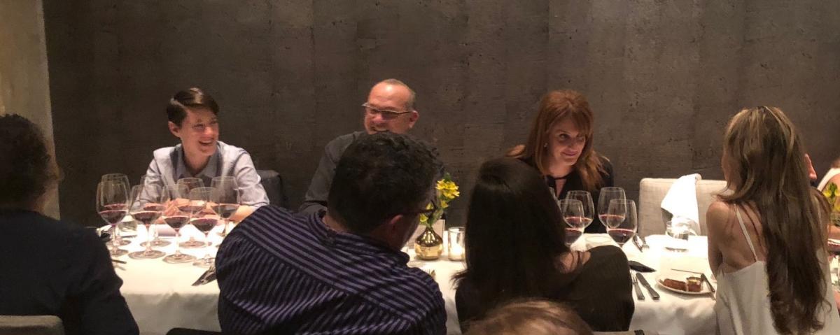 Photo of media dinner