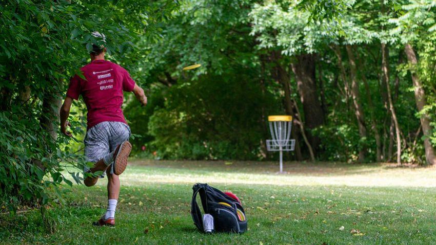 Disc Golf Action Shot