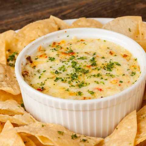 Crab Artichoke Dip - Bluewater Grill Seafood Restaurant