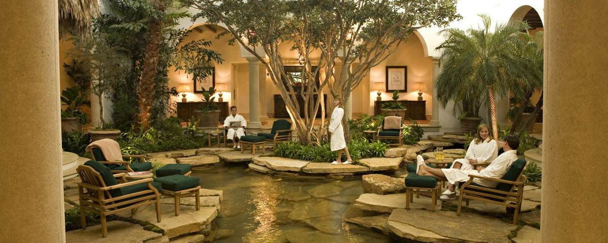 Visitors relax in the calm space of a local Golden Isles Spa