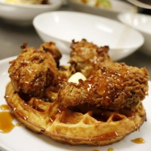 Chicken and Waffles at the Reverly in Rochester, NY