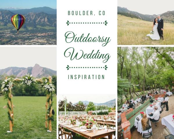 Outdoorsy Wedding Collage