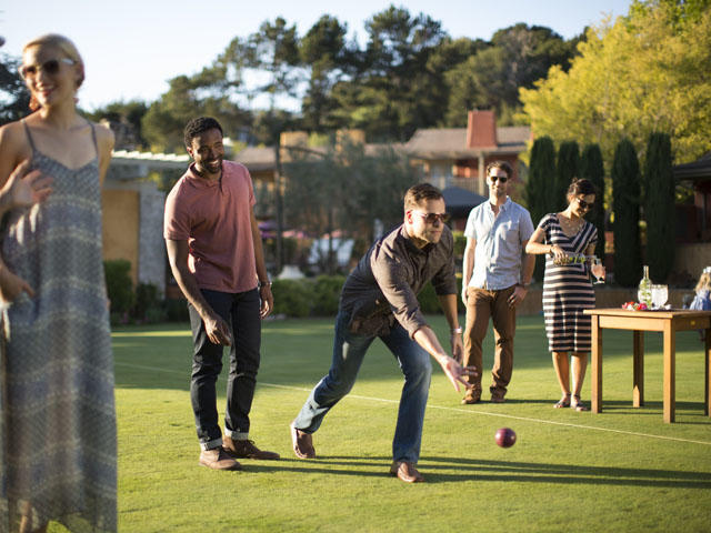 Bocce at Bernardus Lodge & Spa