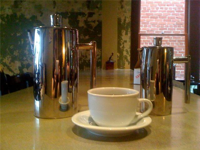Cup of coffee at The French Press in Lafayette, LA