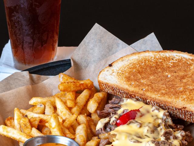 Steak Panini & Fries