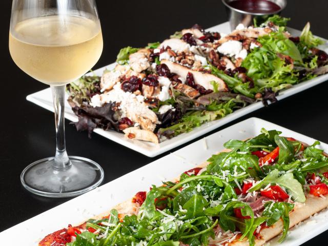 Gigi's Salad & Prosciutto Provolone Flatbread