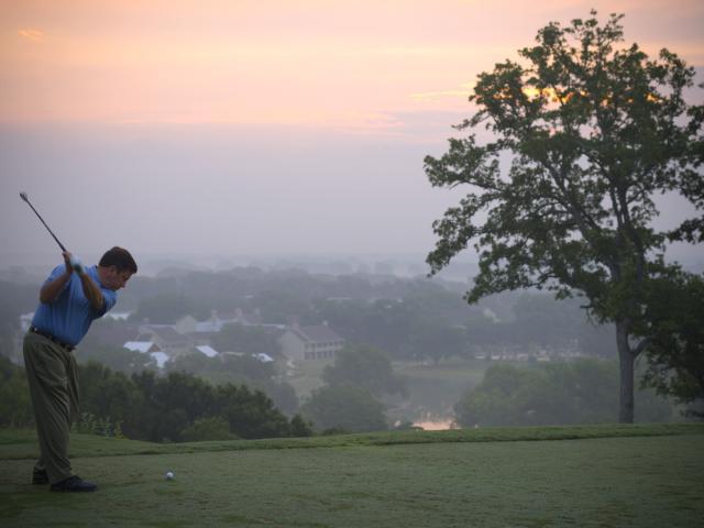Fog Golf Shot
