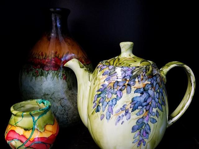 Alcohol Ink on ceramics