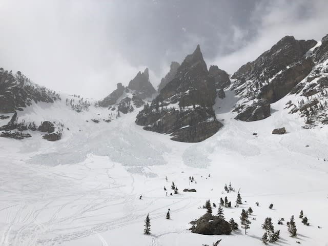 Avalanche in Dead Elk Coulouir