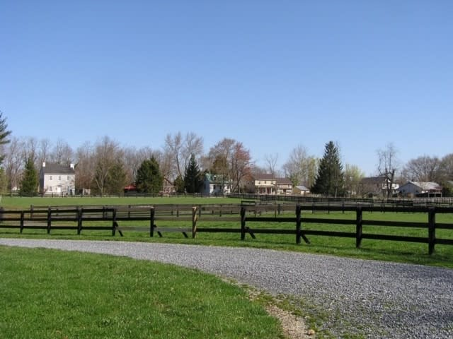Fence-lined property in Unison, VA