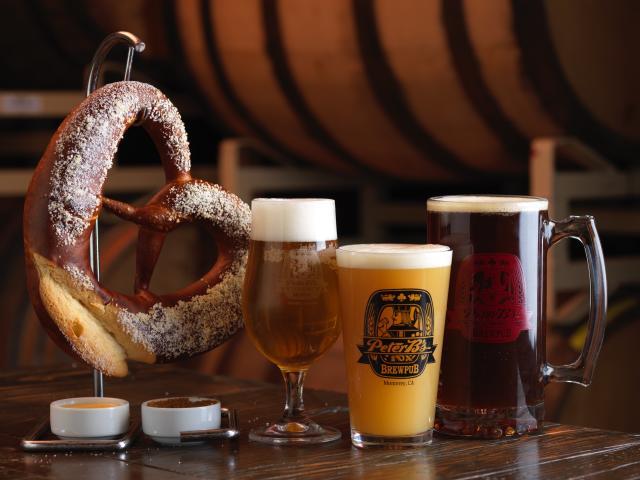 Peter B's Brewpub Pretzel & Beer