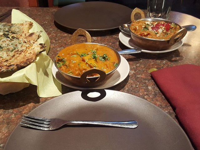 Veggie dishes at Indian Curry Palace