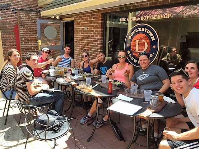 Pedal & Pub group at Doylestown Brewing Co.
