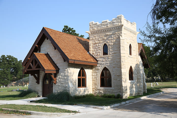 Oakwood Cemetery chapel in austin texas