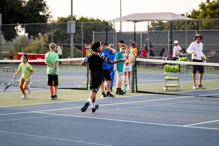 Children and adults are both invited to participate in the Grapefest Tennis Classic.