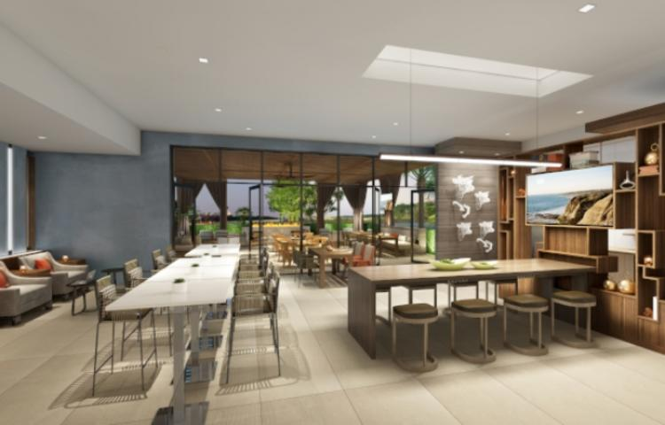 Club Lounge Rendering Marriott- Irvine Spectrum