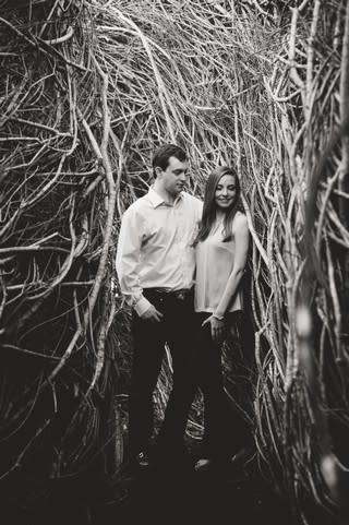 Engagement Photo Stickwork Hermann Park