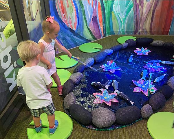 Delaware Art Museums Kids Playing at Kids Corner
