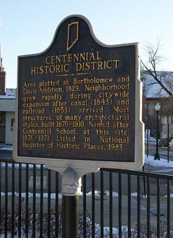 Centennial Neighborhood sign