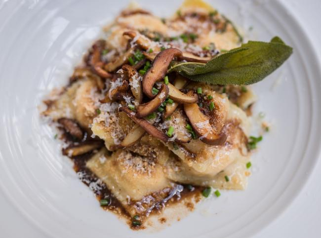 Butternut Squash Ravioli with shitaki mushrooms - Il Palio