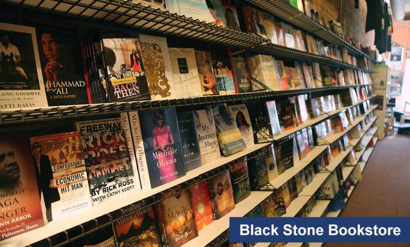Black Stone Bookstore shelves