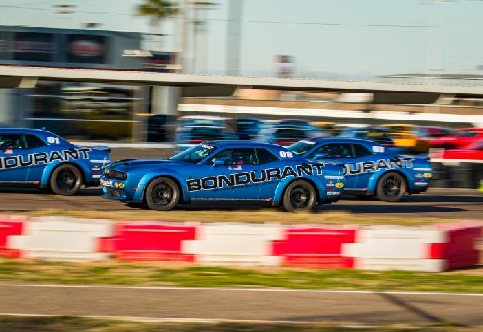 Bondurant Blue Cars