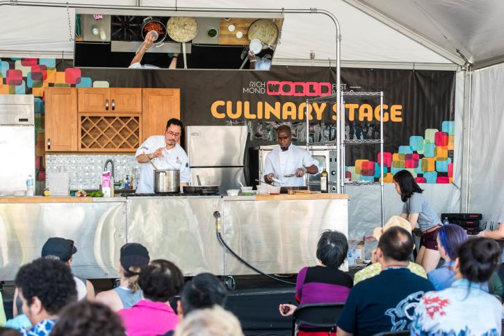 Culinary Stage - Richmond World Festival