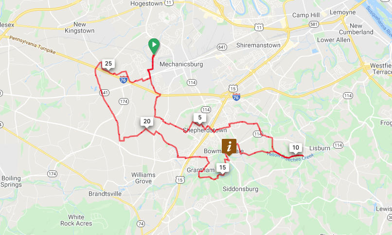 Mechanicsburg to McCormick Road Loop