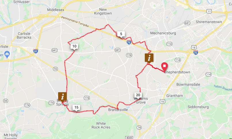 Mechanicsburg to Boiling Springs Loop