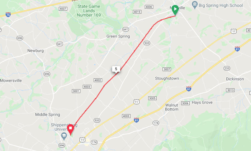 Cumberland Valley Rail Trail - Newville to Shippensburg