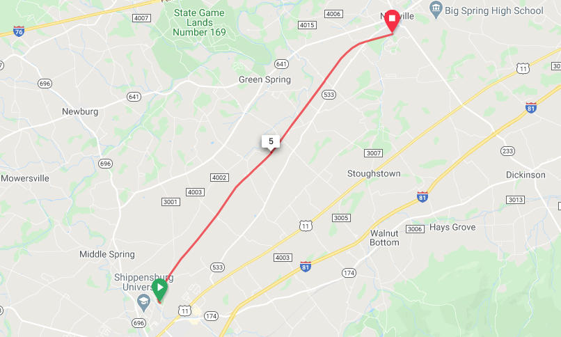 Cumberland Valley Rail Trail - Shippensburg to Newville