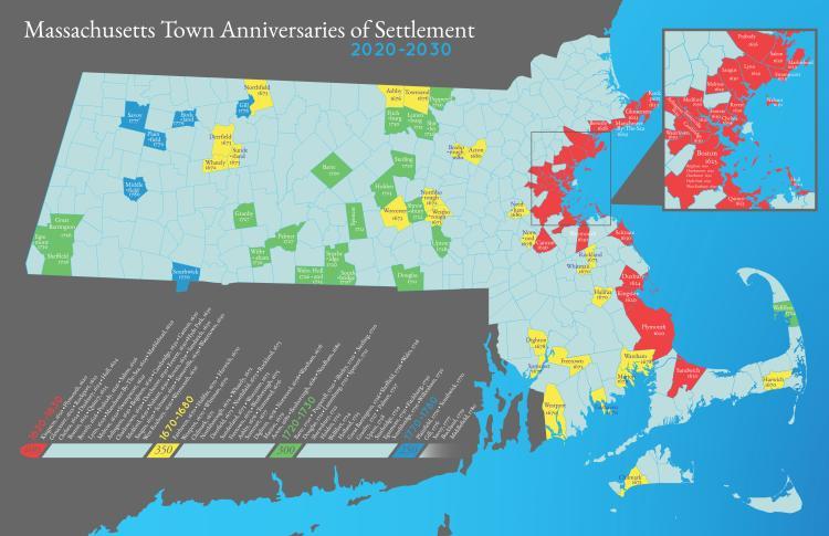 Massachusetts Settlement Anniversaries