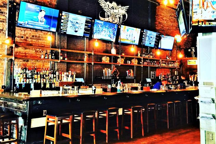 Rebellion NC bar area