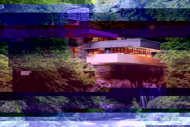 Fallingwater Glitch Art