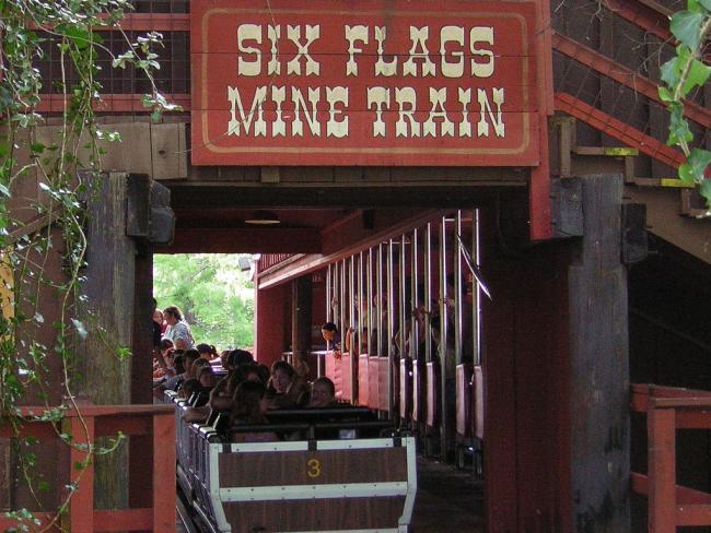 Six Flags Now Mine Train