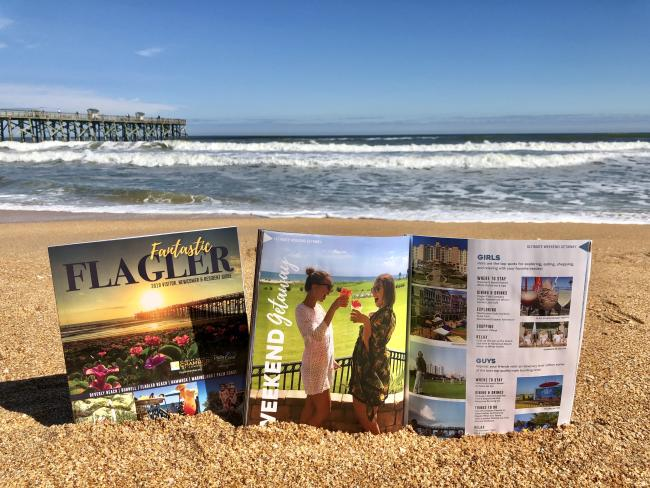 Flagler visitor guide on the beach