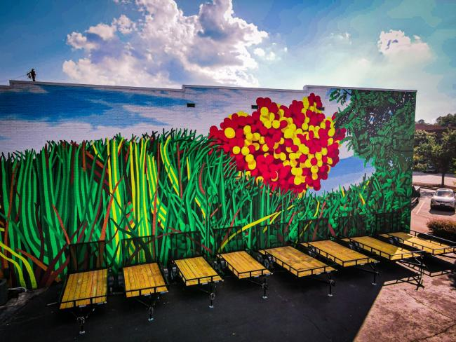 Clover Mural credit RH Drone Guy