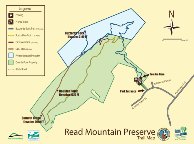 Read Mountain Trail Map