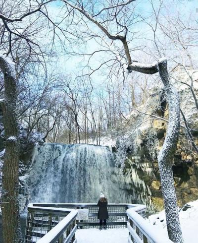 Hayden Falls Park in Winter