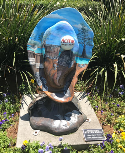 Acme Oyster Sculpture