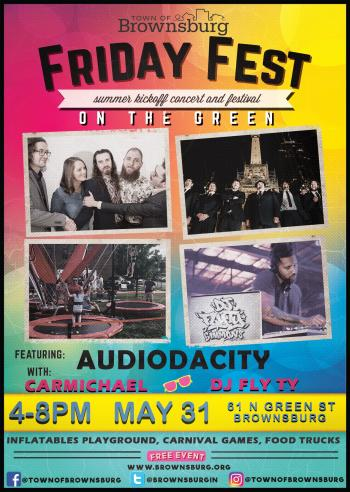 Enjoy Friday Fest with the Town of Brownsburg on May 31 from 4 to 8 p.m.