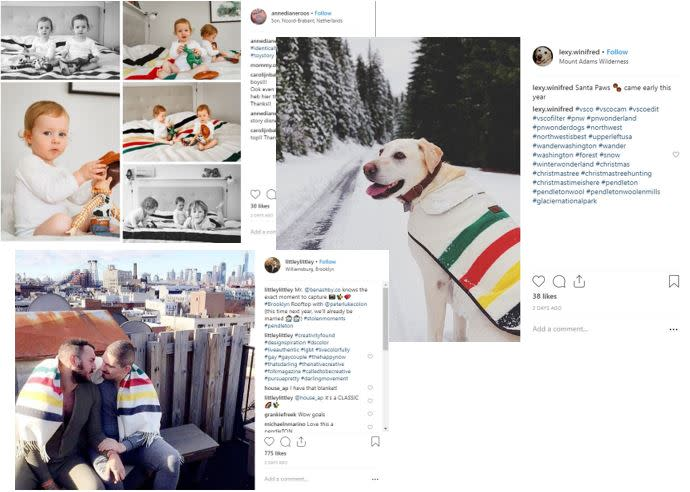 Pendleton Social Media collage