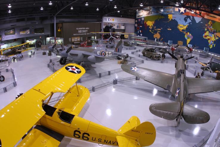 EAA Aviation Museum Yellow Plane