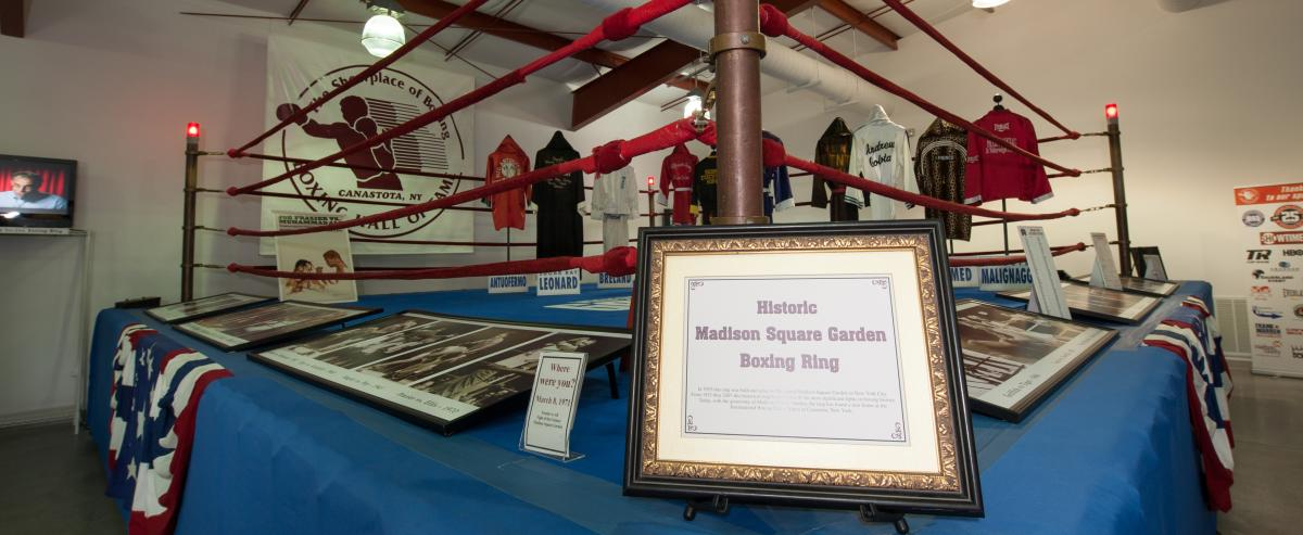 Historic Madison Square Garden Boxing Ring