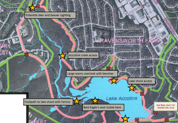 Lake Accotink Park Map