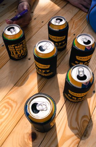 the beer garden is the perfect setting to enjoy gcb's brews