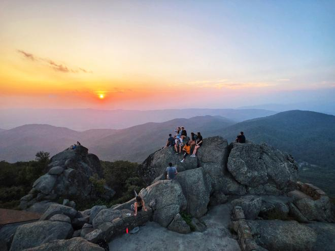 Sharp Top Mountain - Peaks of Otter - Blue Ridge Mountains